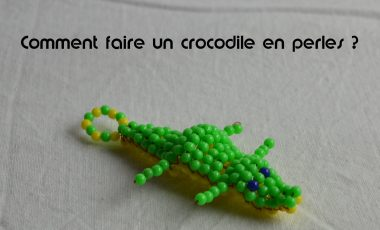Comment faire un crocodile en perle ?