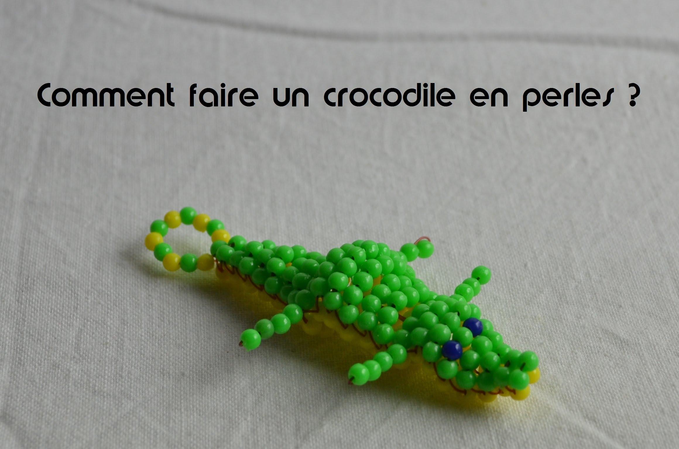 Comment faire un crocodile en perle ?